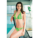 Sexy Green Two Piece Halter Bikini Swimwear (YZ8534) (Start From 12 Units) Free Shipping
