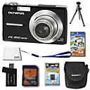 Olympus FE-350 8.4MP Digital Camera + 1GB xD Card + Extra Battery + 6 Bonus