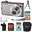 Casio EXILIM EX-S10 10.3MP Digital Camera + 2GB SD Card + Extra Battery + 6 Bonus