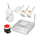Wireless Control Home Alarm System (4 Guard Zones)
