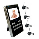 Wireless Baby Monitor 2.4GHz 4-channel + 2.5&quot; LCD + 4 Cameras AF006 (Start From 5 Units) Free Shipping