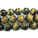 "16"" 18mm Round Natural Tigereye Stone Loose Strand Gemstone Beads (Start From 5 Units)"