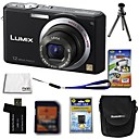 Panasonic Lumix DMC-FX100 12.4mp Digital Camera + 2GB SD Card + batería extra + 6 bonus