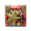 Plastic Ball Christmas Ornaments Set (54pcs/set) (Ball,Tree Top) ZSD078 (Start From 5 Units)