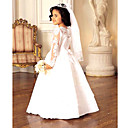 A-line Floor-length Flower Girl / First Communion Dress (HSX635) (Start From 3 Units) Free Shipping