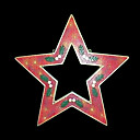 Double Faced Mesh Silhouette 2D Christmas Star Light (SDQ326)