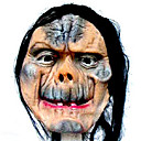 Scary Latex Devil Halloween Mask with Hair For Adult (SZWS026)