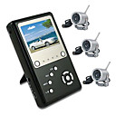 2.5&quot; TFT 2.4GHZ Four Channel MP4 DVR Baby Monitor Kit with 3x Night Vision wireless Camera(SZQ387)
