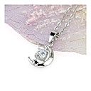 Moon Bay Clear Cubic Zirconia Pendant Necklace - Cubic Zirconia Necklace 80629 - 05 (SZY709)