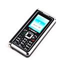 V358 Dual Card Quad Band TV Unusual Side Folder Cell Phone Black