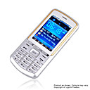 JinPeng  S3388  Dual Card Dual Band Touch Screen TV Cell Phone Silver(SZR412)