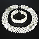 3 - 4mm AA White Freshwater Pearl Jewelry Set (LSP042)