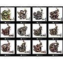 Lot of 12 Pcs Art Tattoo Machine Gun 10 Wrap Coils Pro Tuned