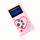 4gb mini mp3 players com alto-falante rosa (szm188)