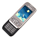 BAIZHAO E66 Dual Card Tri-band Touch Screen Slide Cell Phone White&Silver