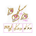 Stylish Beautiful CZ Pendant And Earring Set-CZ Jewelry Set 90226-22 (SZY1558) 20pcs/Lot