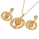 18K Gold Plated Stylish CZ Jewelry Set-Cubic Zirconia Jewelry Set 90331-08 (SZY1706)