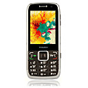 X300 Dual Card Quad Band Dual Camera TV Function Flat Touch Screen Cell Phone Black