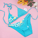 Free Shipping Hot Popular Blue Two Piece Bikini Swimwear Swimsuit (Start from 10 Units) (FT084)