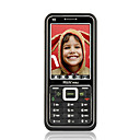 N9 Dual Card Quad Band Ultra-thin TV Function Touch Screen Cell Phone Black