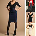 High Waist Tab Front Pencil Skirt (09VMX007)
