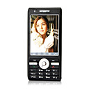 F001 Dual Card Quad Band Analogue TV Ultra-thin Touch Screen Cell Phone Black