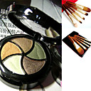Free Professional Cosmetic Brush Set + 10 Double Deck Colors Eyeshadow Palette