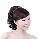 Synthetic Hairpiece - Brown Curly Ponytail