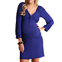 Twist Knot Front Cut Out Back Maternity Dress (09YX002)