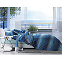 4-pc Blue Danube Cotton Full Size and Queen Size Duvet Cover Set - Free Shipping (9S002000)