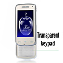 kd900 double carte transparente clavier Bluetooth slide touch screen FM Cell Phone argent (carte 2GB TF) (szhx0310)