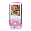 SKY A6 Dual Card Dual Standby Dual Band Global Intercom Function Flat Touch Screen Cell Phone Pink (2GB TF Card)