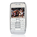 Quad Band Dual Camera WIFI TV Function QWERTY Keyboard Metal Cover Flat Screen Silver and White and Gray (2GB TF Card)