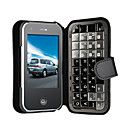 DA PENG T2000 Quad Band Dual Card TV WiFi JAVA Qwerty Keypad Flat Touch Screen Cell Phone Black(Start From 3 Units)