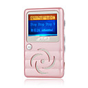 4gb cool oled mp3 player com alto-falante rosa (szm676)