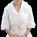 3/4-length Sleeves Faux Fur Bridal Wedding Jacket / Wrap (WHPJ004-2031)