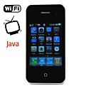 i9 quad band tv cartão duplo java celular wi-fi preto (2GB TF) (sz00510084)