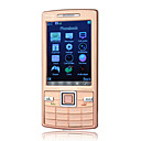 N95+ Quad Band Dual Card Ultra Thin Metal Cover JAVA Flat Touch Screen Bar Cell Phone Gold (2GB TF Card)