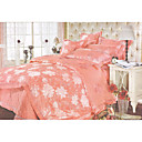 6-pc Luxury Pink Jacquard Cotton Full Size Duvet Cover Set - Free Shipping (0586-FZ004)