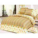 4-pc Colorful Stripe Full Size Duvet Cover Set - Free Shipping (0586-6940118564305)