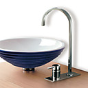 Single Handle Chrome Centerset Bathroom Sink Faucet - Free Shipping (0634-2103)