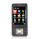 G3 Quad Band Dual Card Dual Standby Dual Camera JAVA Flashlight Flat Touch Screen Cell Phone Gray (2GB TF Card)(SZ05440322)