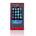 C5000 TV WIFI JAVA 3.2 Inch Flat Touch Screen Cell Phone Red