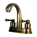 Antique Inspired 4 Inch Bathroom Sink Faucet - Polished Brass Finish