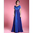 A-line Scoop Floor-length Satin And Chiffon Mother of the Bride Dress