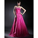 A-line Strapless Floor-length Satin Organza Prom/ Evening Dress (HSX231)