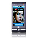 w008 - dual sim 3,5 inch touch screen mobiele telefoon zwart (wifi dual camera tv)