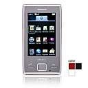 X2 Dual Card Quad Band Bluetooth 3.0 Inch Flat Touch Screen Cell Phone (2GB TF Card and Leather Case)