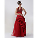 A-Line Halter Floor-length Taffeta Prom/ Evening/ Homecoming Dress (HSX243)