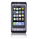 E79 WIFI Quad Band Dual Card TV JAVA Dual Camera Flashlight Flat Touch Screen Cell Phone Black (2GB TF Card)